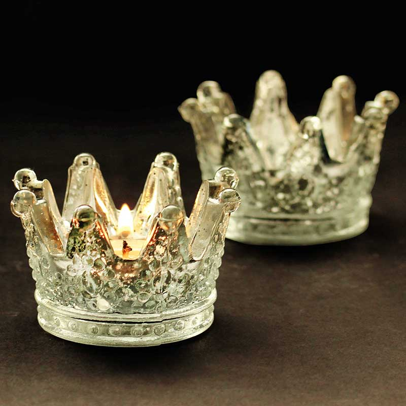 Wholesale Crown Shape Tealight Candle Holder