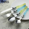 french dinnerware sets mother of pearl silverware spoon forks inox cutlery