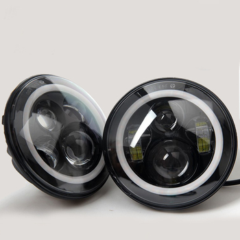 HANTU low MOQ Motorcycle 7 Inch Headlight LED Headlight Angel Eye For Harley Davidson