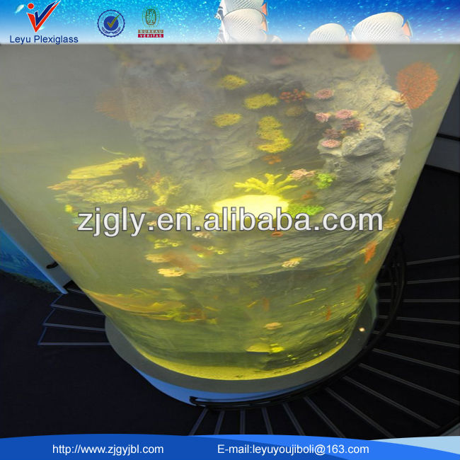 Hot! Big Custom Cylinder fish tank Acrylic Aquarium