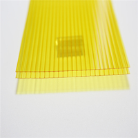 4mm/6mm/8mm/10mm Polycarbonate Twinwall Sheet With UV Protector Layer