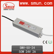 50W 24V Waterproof IP65 LED Power Supply (SMV-50-24)