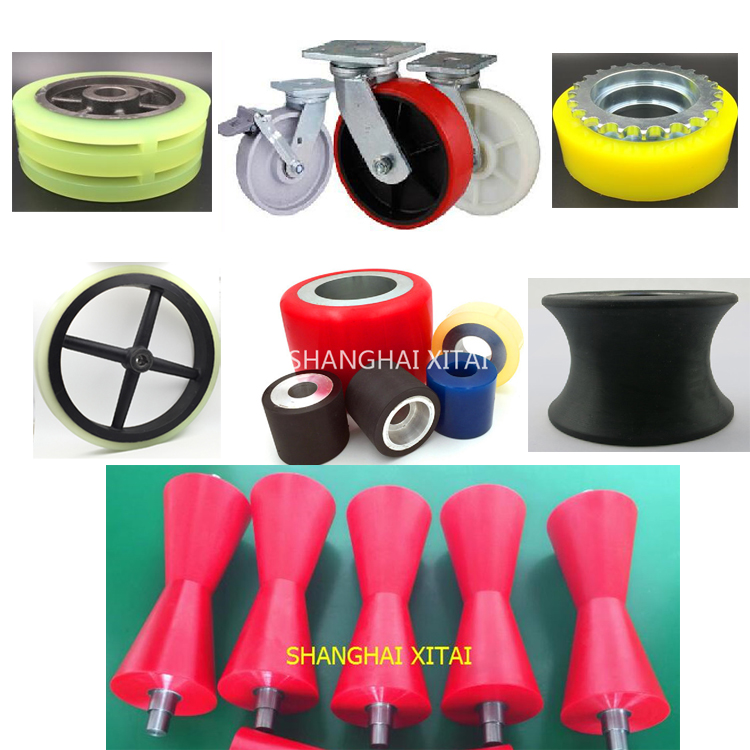 High Quality Custom polyurethane wheel flat free polyurethane tyres for beach carts