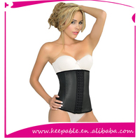 2016 Latest Top Quality Latex Rubber Sports waist Slimming Waist Trainer corset