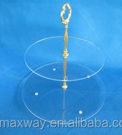 2 tiers round hot sale acrylic clear wedding cupcake display stand