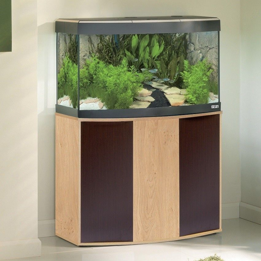 Sea Bass Acrylic Aquarium Glass Fish Tank X Thick Oak Stand Support Gallon Bowl