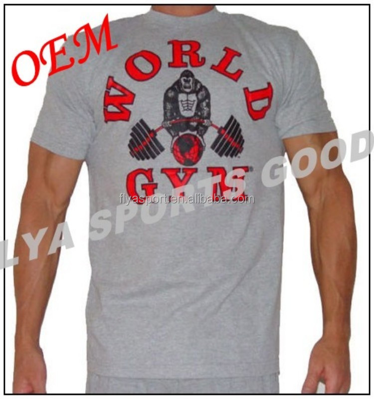 OEM & ODM Best sell large printing logo training running bodybuilding gym t shirts
