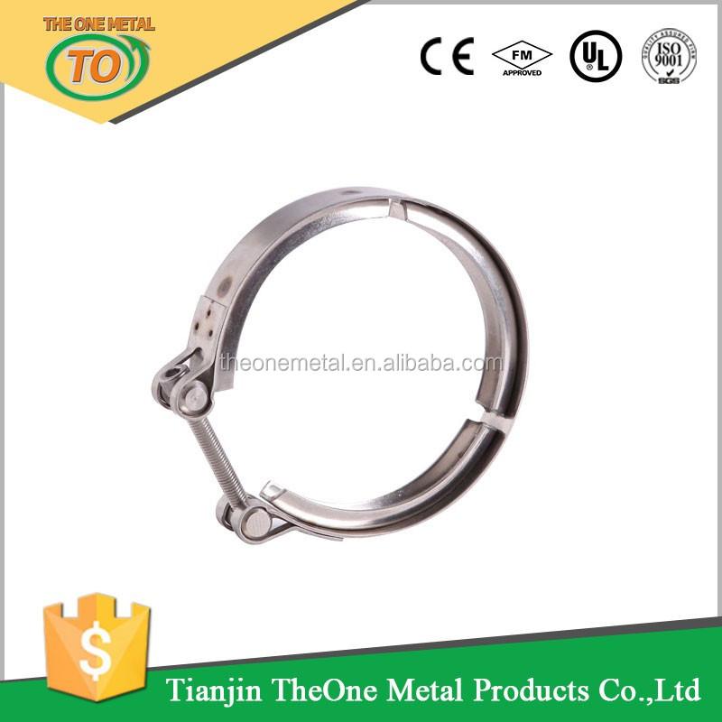 Custom stainless steel t bolt v band exhaust hose pipe