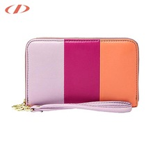 Hybrid color leather purses italian woman purses 2018 small purse wallet