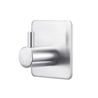 Bathroom Stainless Steel Removable Adhesive Hook