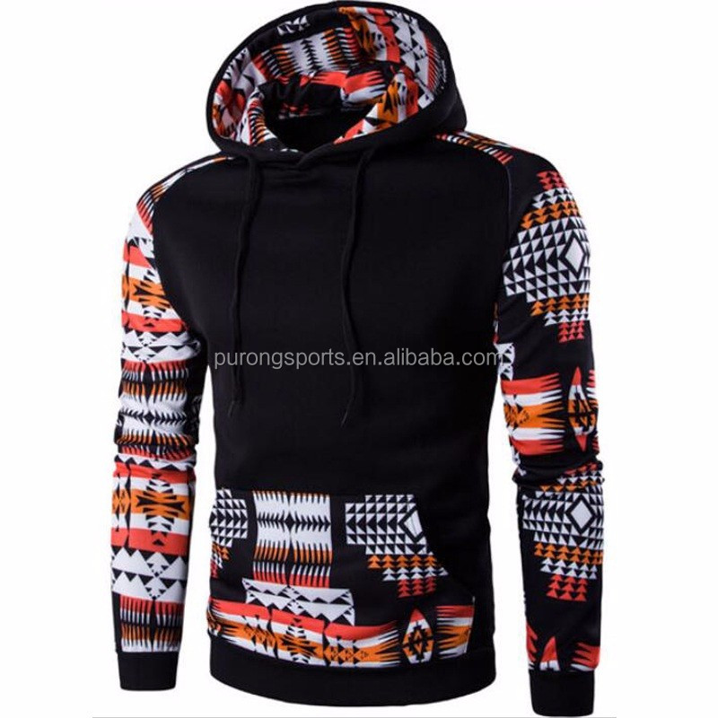 2016 Hoodies Men Hombre Hip Hop Male Brand Hoodie Digital Printing Sweatshirt Suit Mens Splice Slim Fit Men Hoody