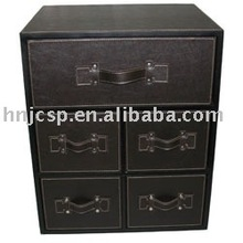 leather drawer cabinet