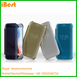 Ibest hot new products for 2016 clear mirror mobile accessories for galaxy s7 cell phone accessory