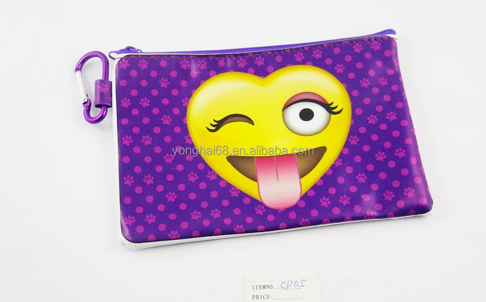 Fashion Cotton Fabric Change Purse With Zipper, Cute Cartoon Small Coin Purse Wholesale