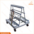 High quality metal display rack A frame glass and stone slab display rack showing stand