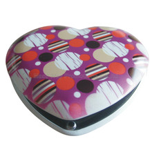 custom aluminum heart shape make up mirror