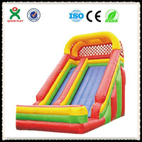 Colorful inflatable sliding slide aladdin, inflatable bouncer slide, cheap inflatable bouncers for sale QX-115B
