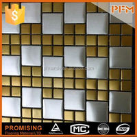 hot sale well polished 304 ss material westlife metal mosaic