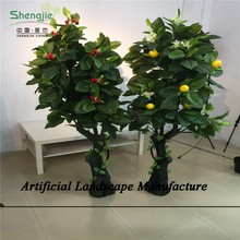 SJZJN 1811 Fake Lemon Tree and small apple Tree/Decorative High Quality Fruit Tree On Sale
