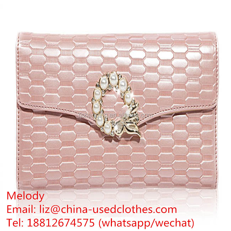 used bags/used ladies fashion pink handbags