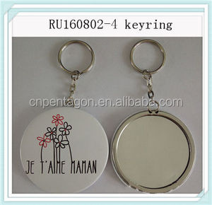 Popular stainless steel floating unusual keyring with OEM logo