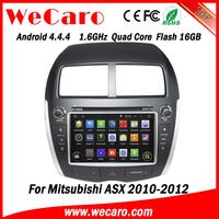 Wecaro WC-MU8064 android 4.4.4 car dvd gps for mitsubishi asx car radio 2010 2011 2012 with radio 3G wifi playstore