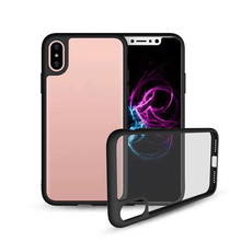 For Apple x 10 Transparent TPU PC Hybrid Luxury flip phone case soft cover for iphone x/8