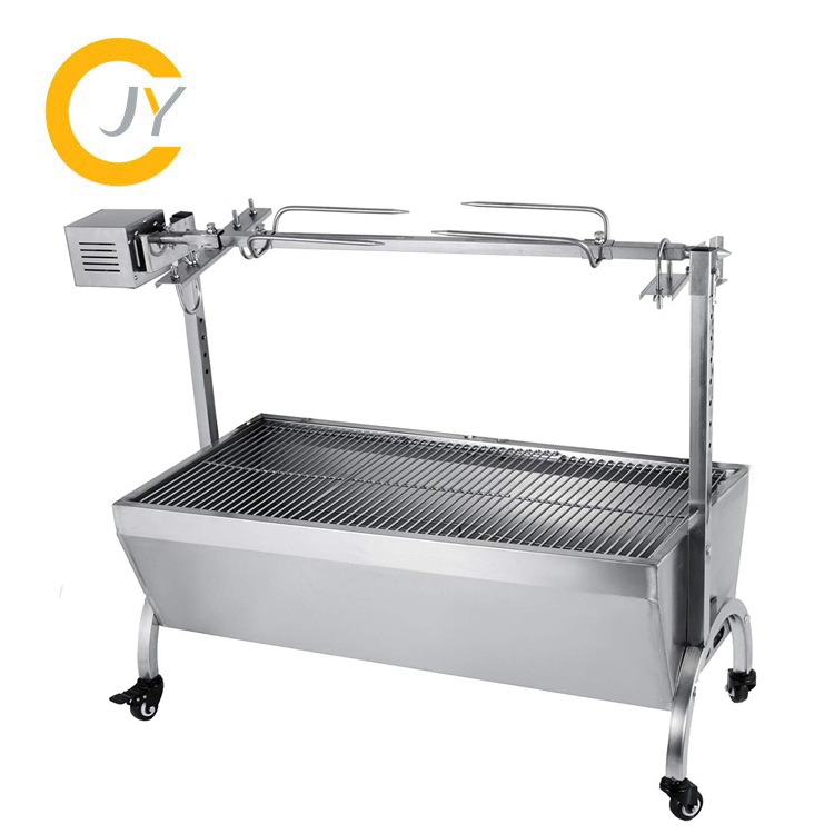 Electric Automatic BBQ Grill Outdoor Camping Charcoal Grill for Cooking Pig and Chicken