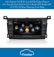 A8 Chipset 3G WiFi Car DVD Video Player For Toyota New RAV4 2013 With GPS Radio BT 1G CPU 20 Disc Playing Free Map