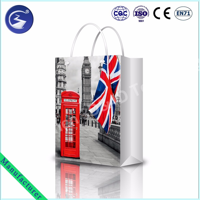 2017 3D England Style Gift Bag