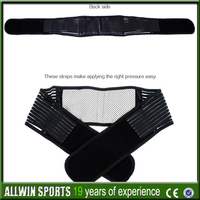 Allwin New product Top sale tourmaline lumbar support with magnetic stones built in,paypal,low MOQ,mixed order