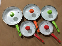 Aluminum Pressed ceramic fry pan with glass lid
