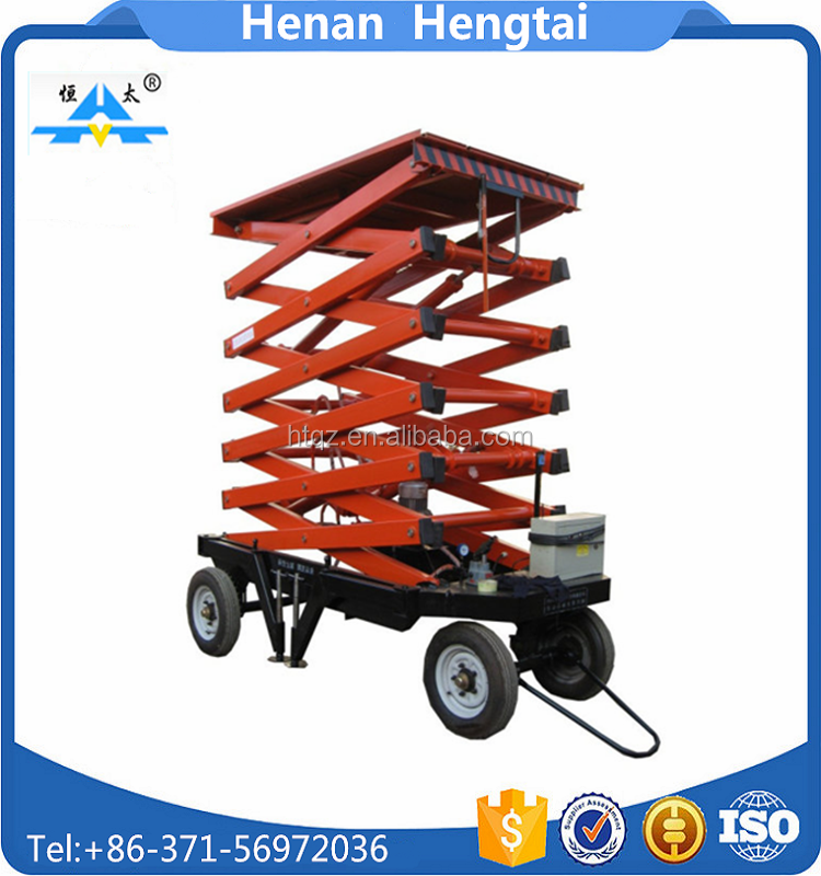 Diesel powered compact boom lift vertical platform lift