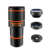 Smartphone Camera Zoom Lens Kit, 4 in 1 HD 12X Optical Telescope Zoom Lens+ Fisheye+ Wide Angle+ Macro Lens with Universal Clip