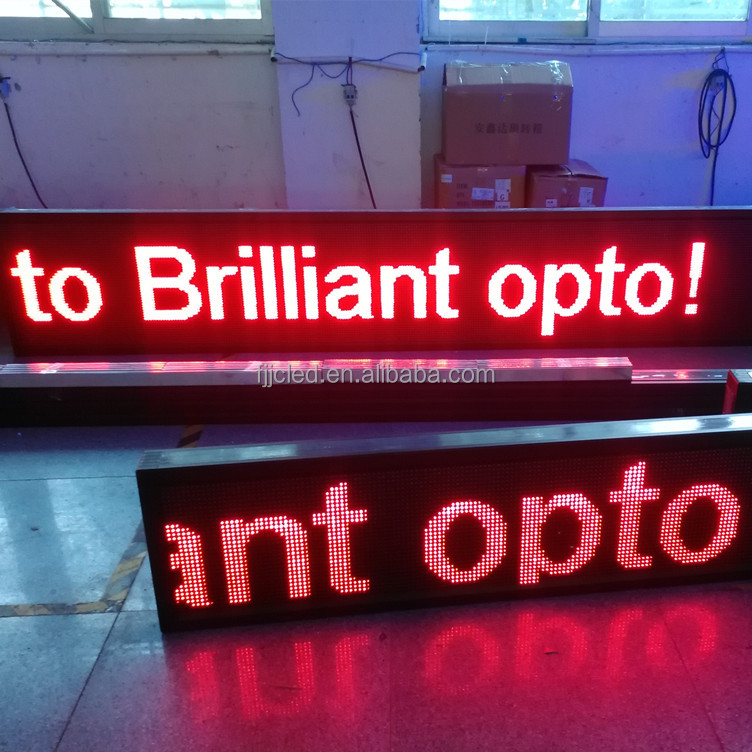 Scrolling Display P10 Red Programmable LED Moving Text Sign
