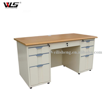 Metal Executive Laptop Desk with Drawer Cabinet