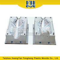 Plastic blow mold use for HDPE bottle blow molding