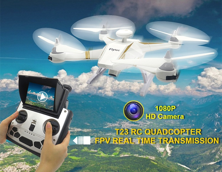 Newest Flytec T23 Navi 5.8G 6CH Drone GPS FPV RC Quadcopter with 1080P 2MP HD Camera