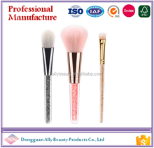 2017 New Arrival Brillant Diamond 3pcs Essential Cosmetic Brush With Blister Package As Our Patent Makeup Brushes Kit