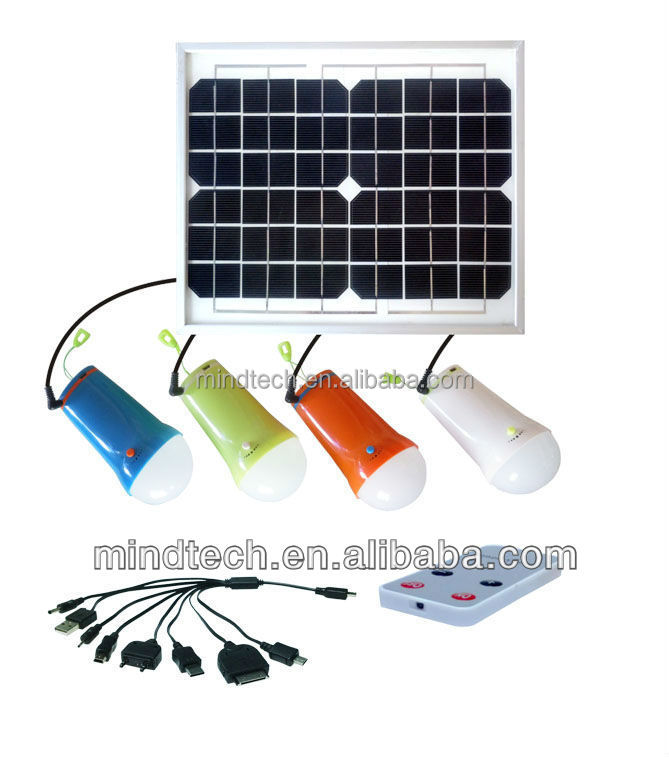 15W solar led light portable lantern with 4 bulbs and mobile charger--MRD406A