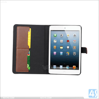 cow leather tablet protective covers for ipad mini 2 3 4, for apple ipad mini leather covers