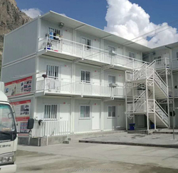 Knock-Down Sandwich Panel Container House with Roof Balcony