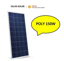 150W poly solar panel ,2017 Jump off property prices 12V PV module