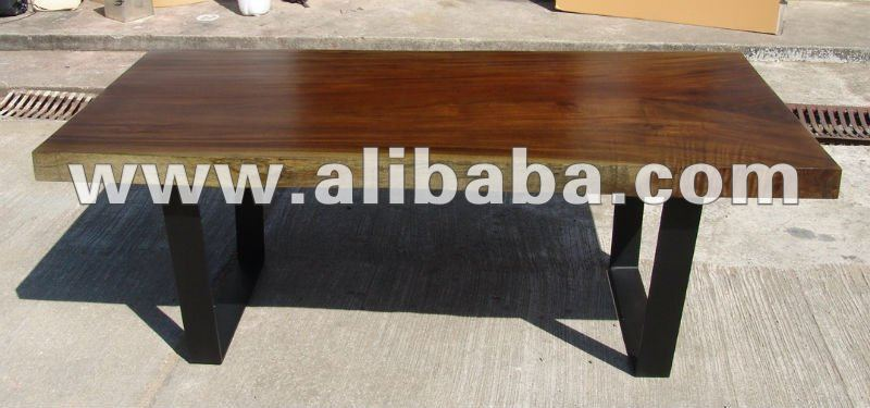 Acacia Solid Slab Wood 2.20 Meter Dining Table