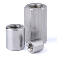Stainless steel long hex coupling nut DIN6334 sleeve nut M8