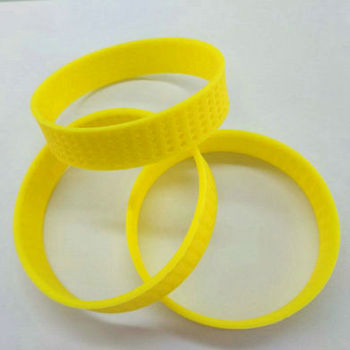 Stretchable breathable silicon wristband silicone flexible wristband