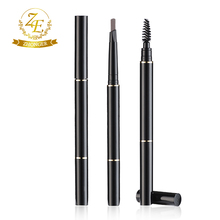 Factory OEM Double-end Waterproof Brown Eyebrow Pencil With Brush