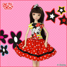 28cm fashion Disney pvc doll toy with fashion dress and accessories