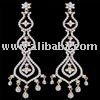 silver diamond earring
