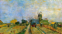 Vegetable Gardens in Montmartre pictures oil painting by Van Gogh